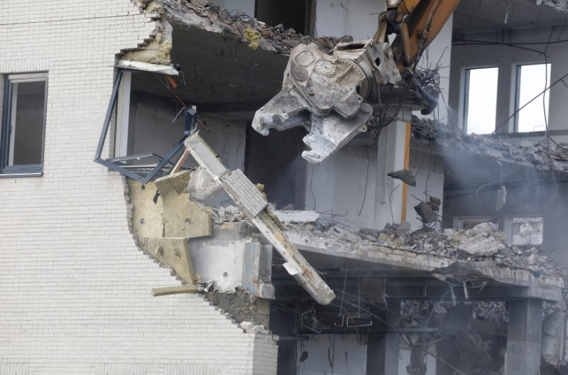 Old building demolishing PU2YBS7  1
